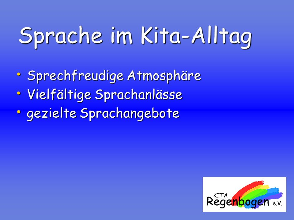 Sprache im Kita-Alltag