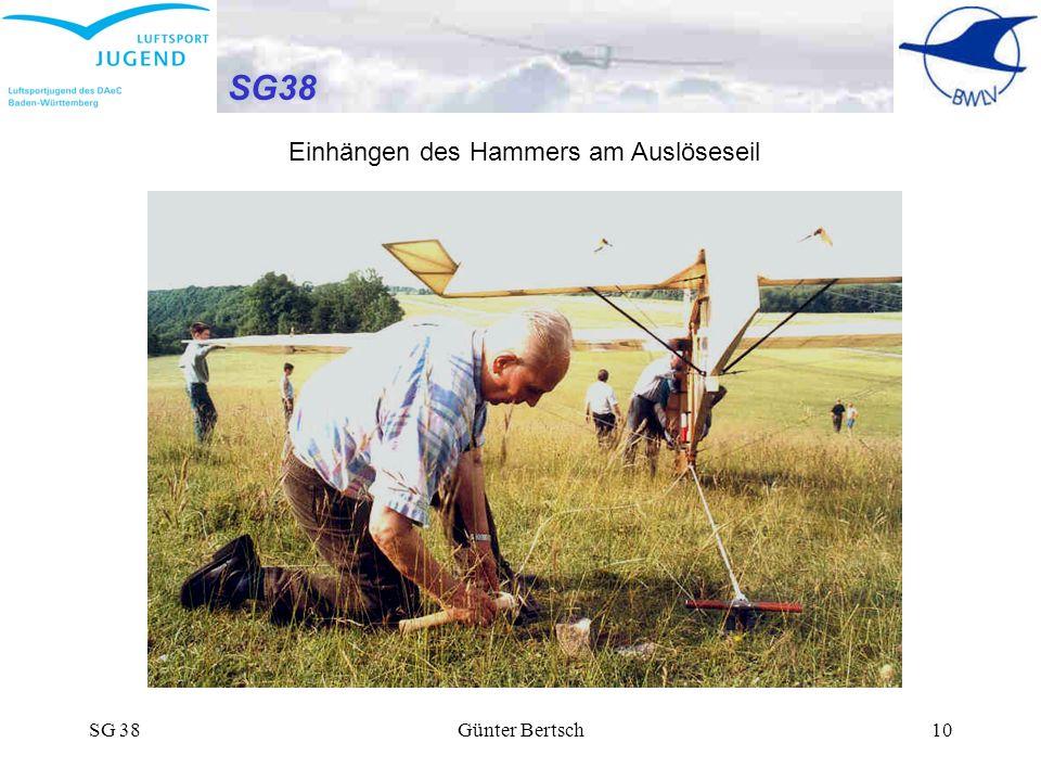 SG38 Einhängen des Hammers am Auslöseseil SG 38 Günter Bertsch