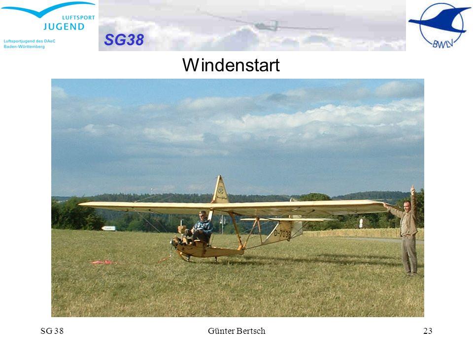 SG38 Windenstart SG 38 Günter Bertsch