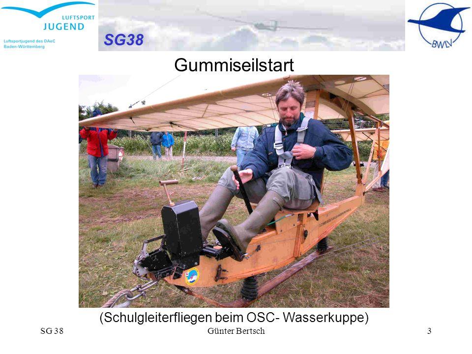 Gummiseilstart SG38 (Schulgleiterfliegen beim OSC- Wasserkuppe) SG 38