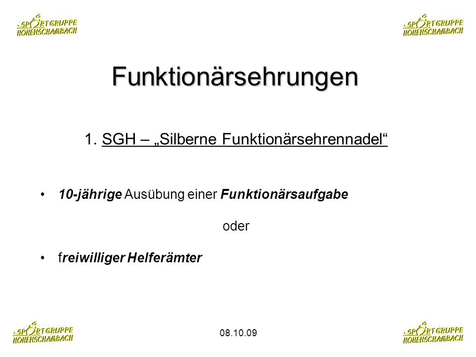 "SGH – ""Silberne Funktionärsehrennadel"