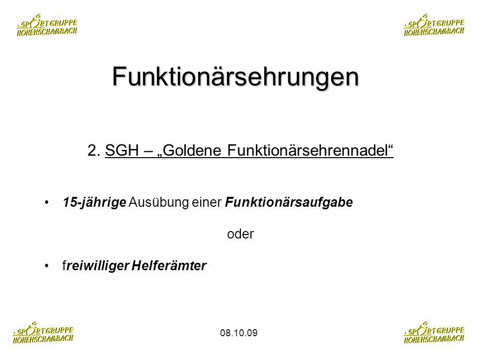 "2. SGH – ""Goldene Funktionärsehrennadel"