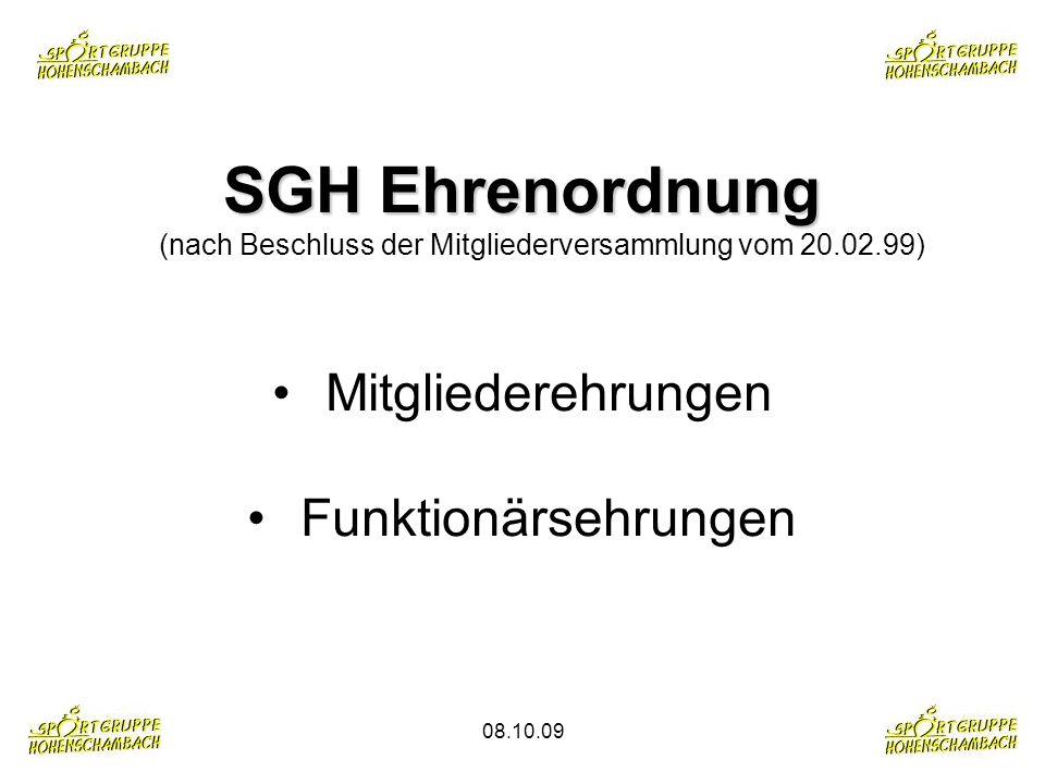 SGH Ehrenordnung (nach Beschluss der Mitgliederversammlung vom 20. 02
