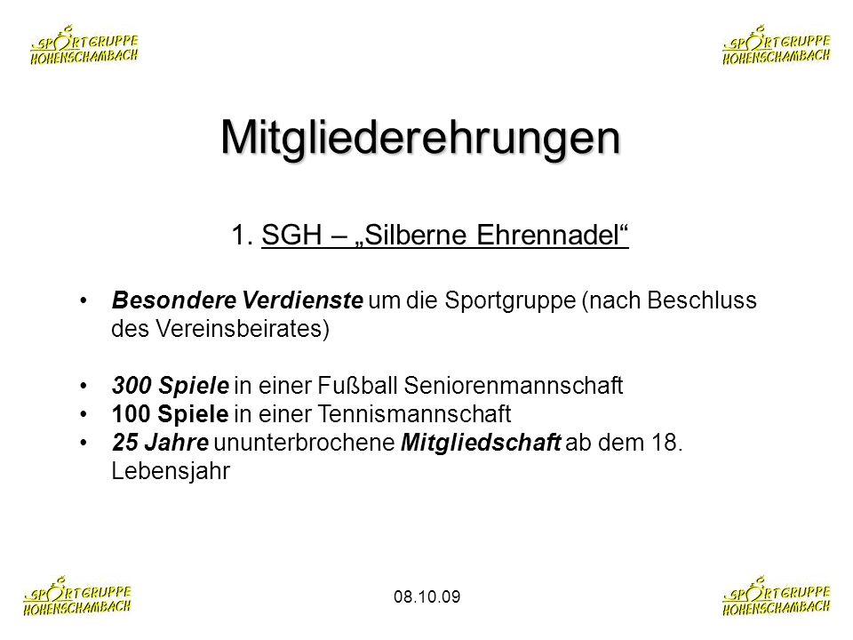 """1. SGH – """"Silberne Ehrennadel"""