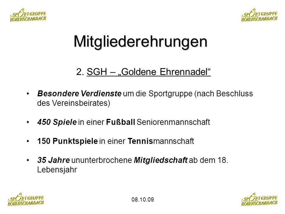 "2. SGH – ""Goldene Ehrennadel"