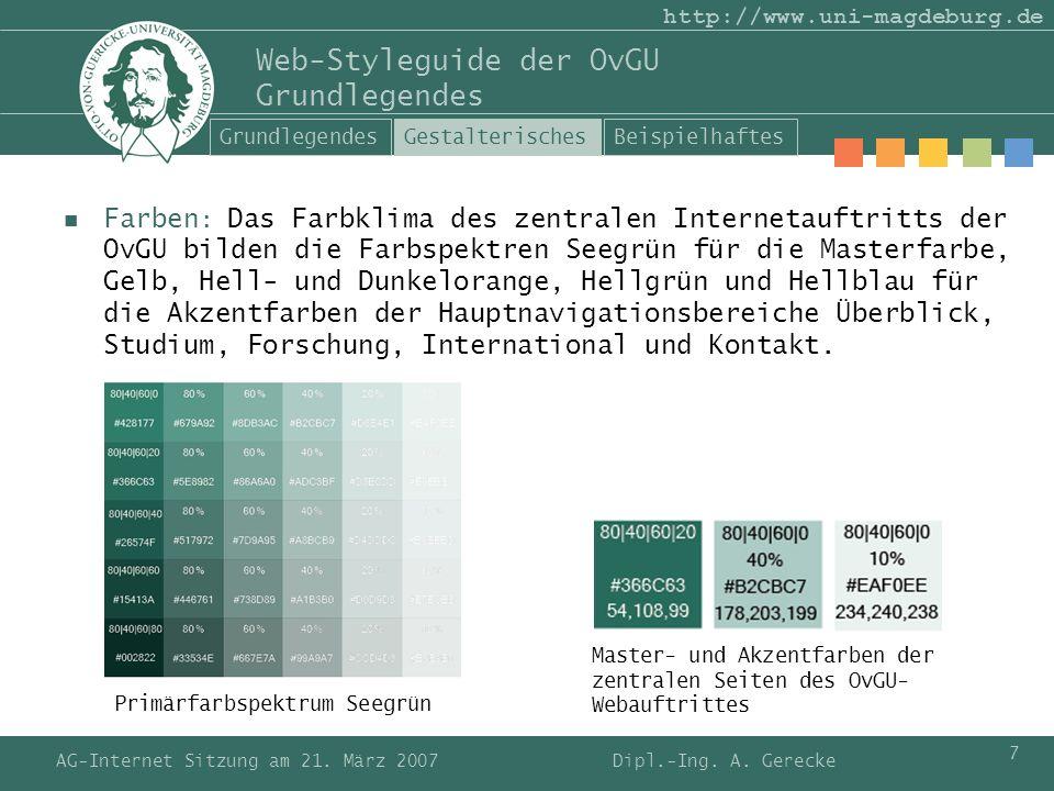Web-Styleguide der OvGU Grundlegendes