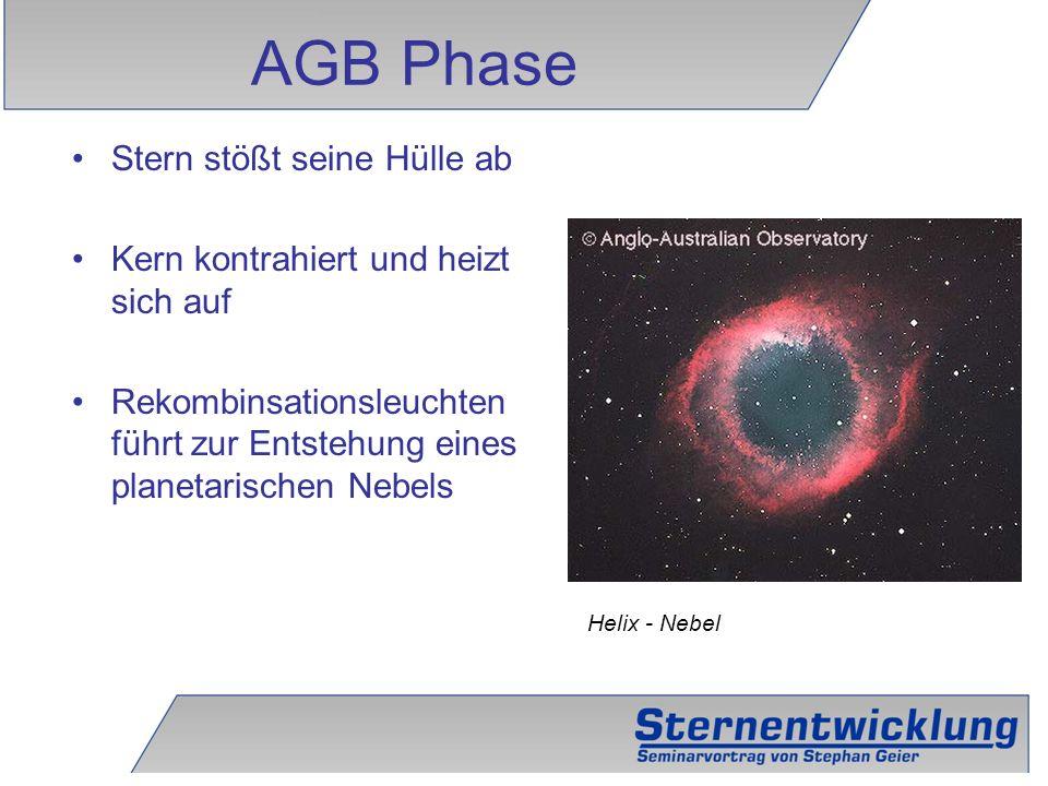 AGB Phase Stern stößt seine Hülle ab