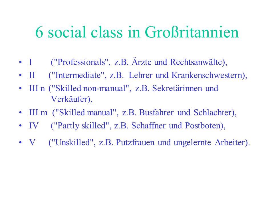 6 social class in Großritannien