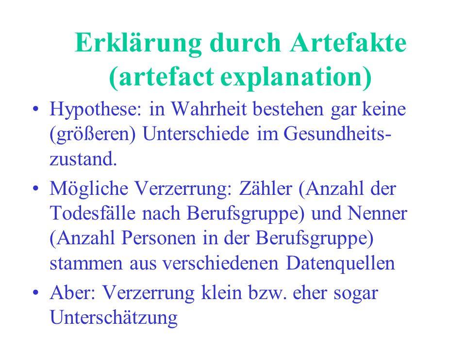 Erklärung durch Artefakte (artefact explanation)