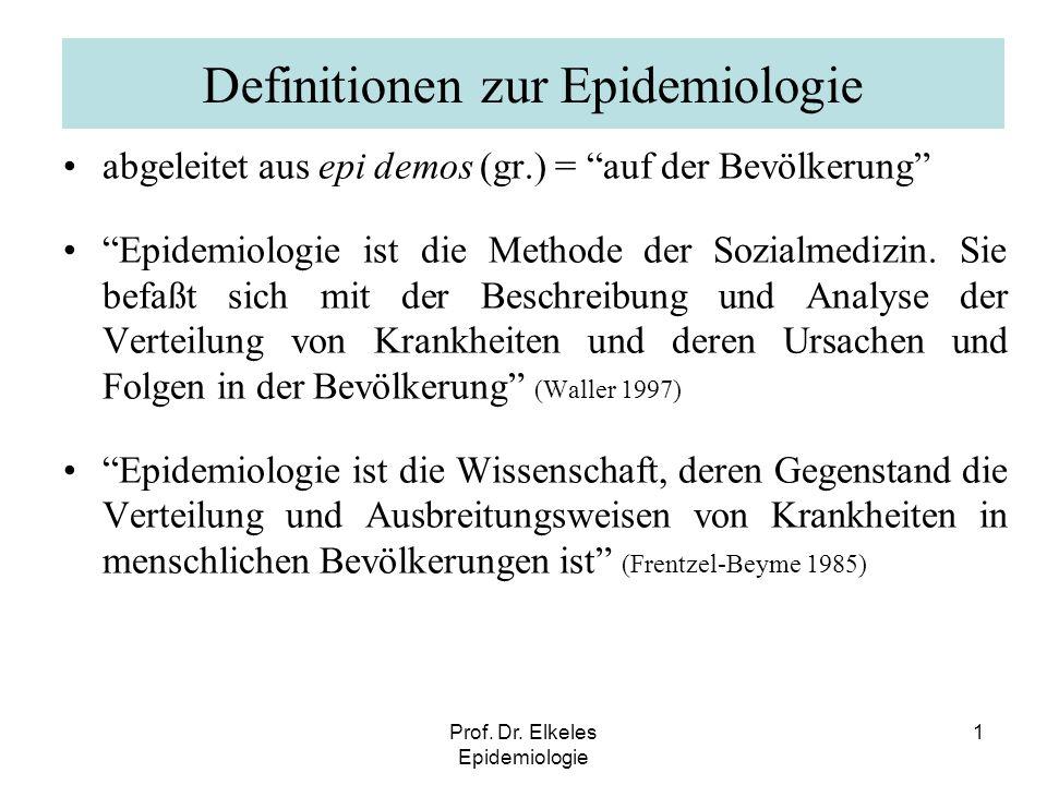 Definitionen zur Epidemiologie