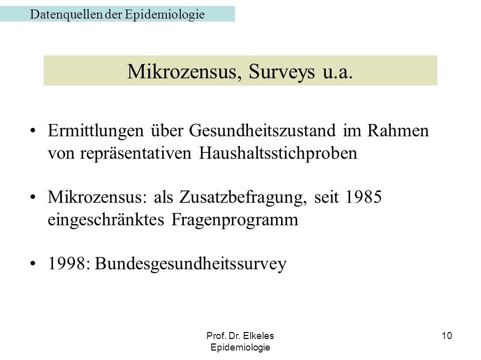 Mikrozensus, Surveys u.a.