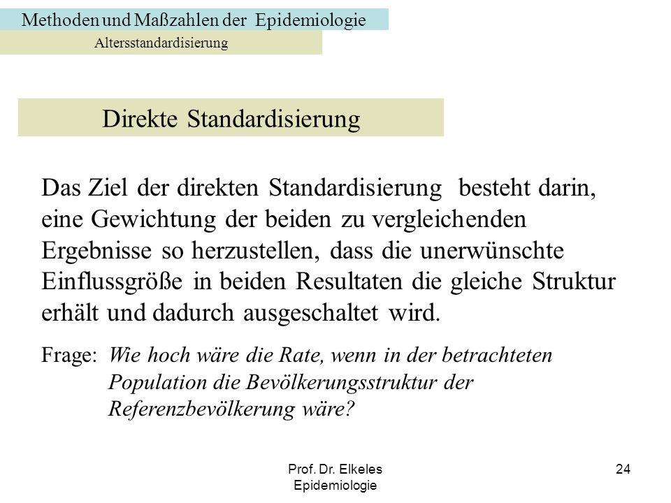 Direkte Standardisierung