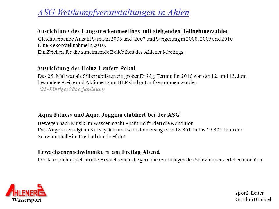 ASG Wettkampfveranstaltungen in Ahlen