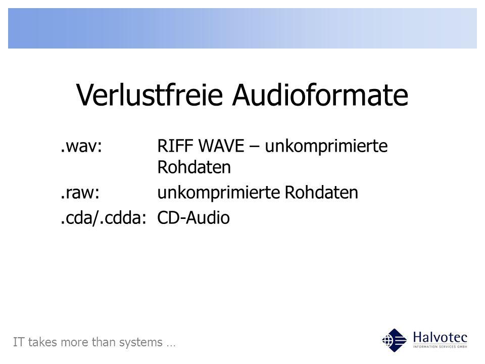 Verlustfreie Audioformate