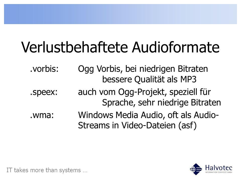 Verlustbehaftete Audioformate