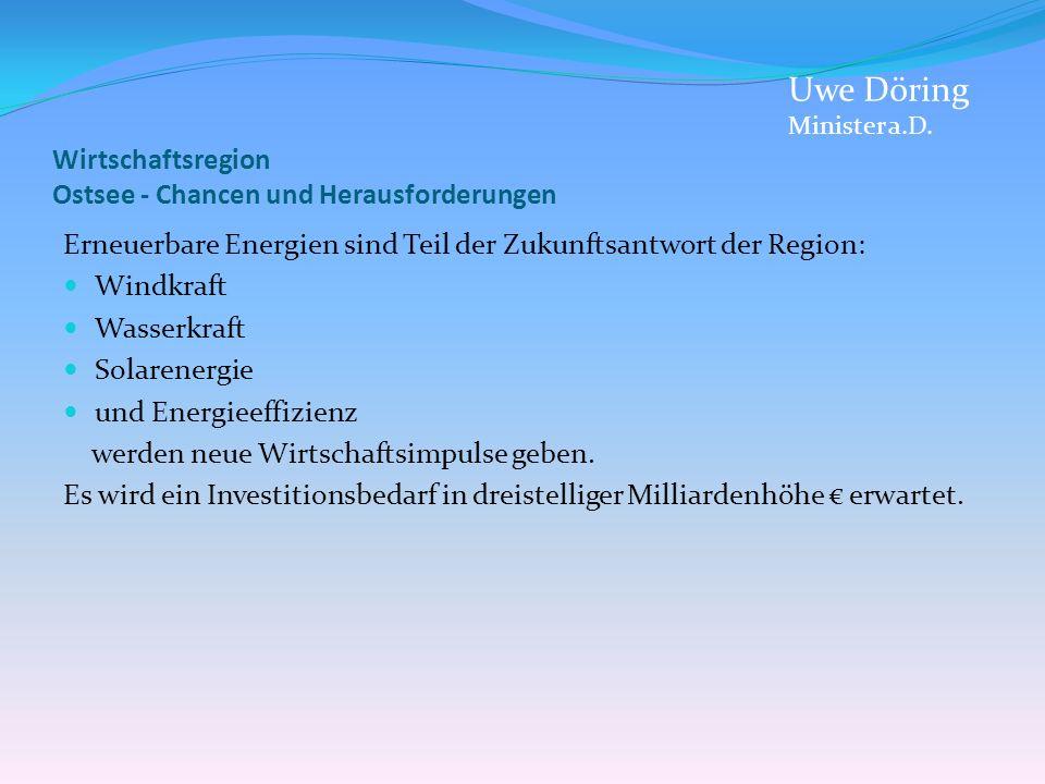 Wirtschaftsregion Ostsee - Chancen und Herausforderungen