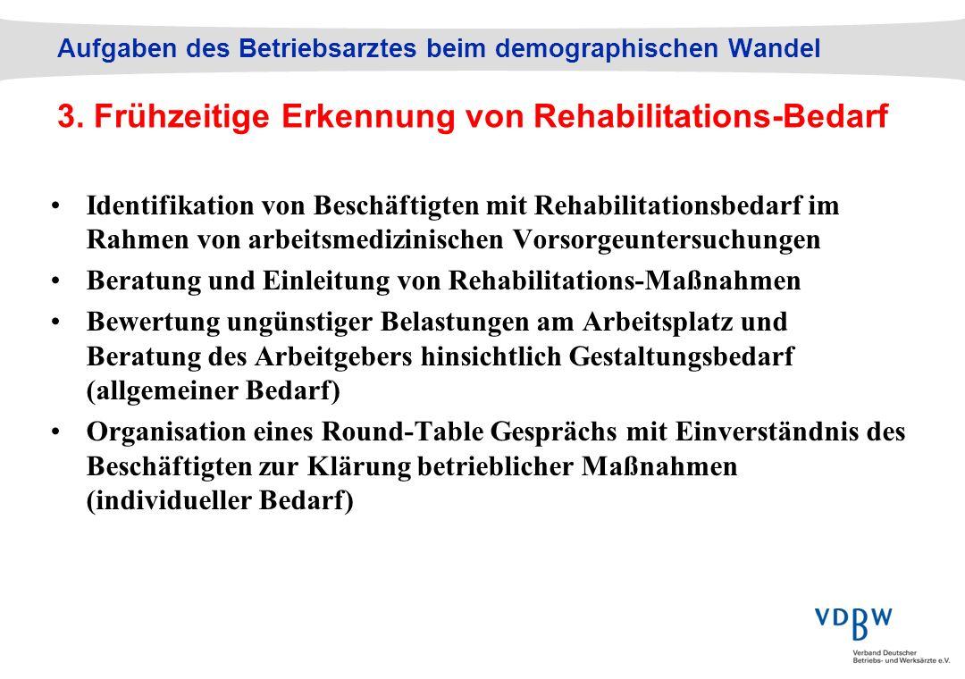 Beratung und Einleitung von Rehabilitations-Maßnahmen