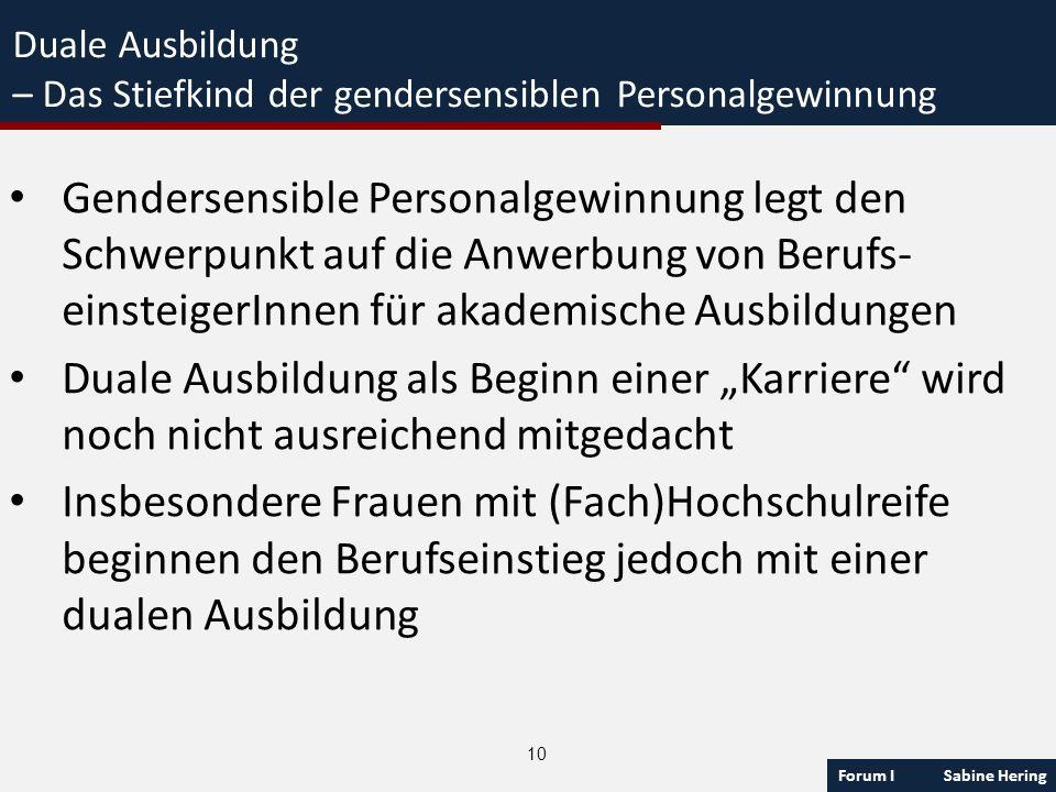 Duale Ausbildung – Das Stiefkind der gendersensiblen Personalgewinnung.