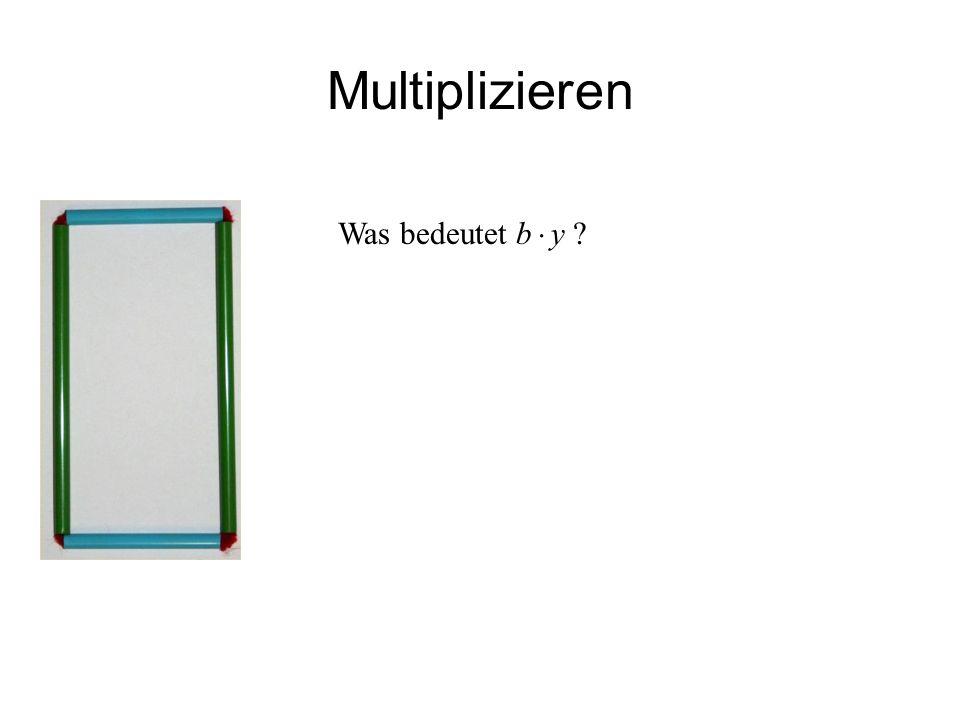 Multiplizieren Was bedeutet b  y