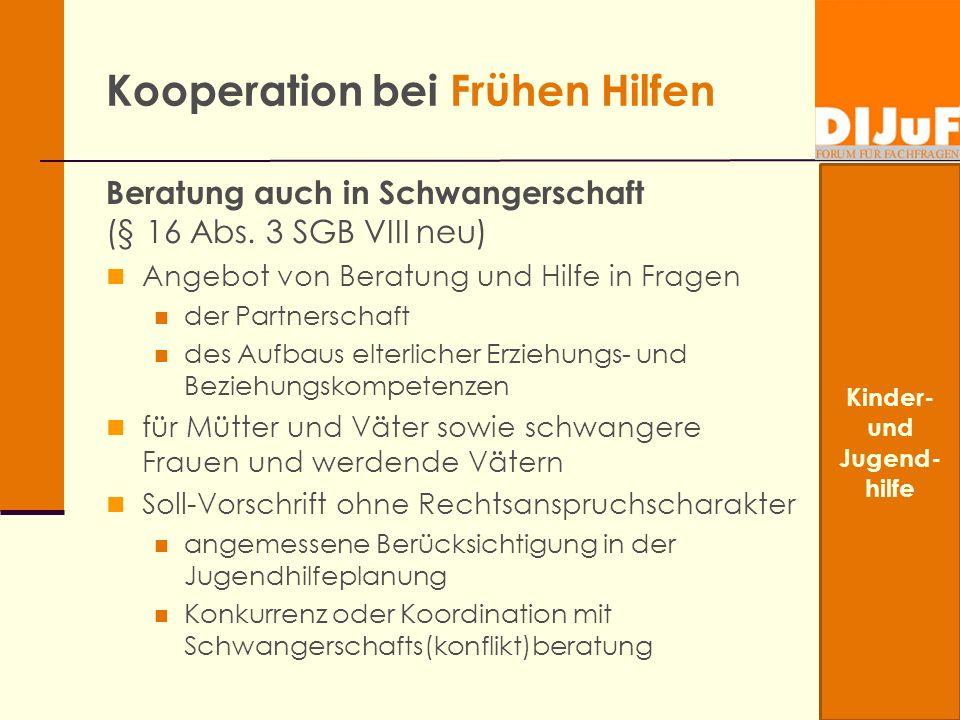 Kooperation bei Frühen Hilfen