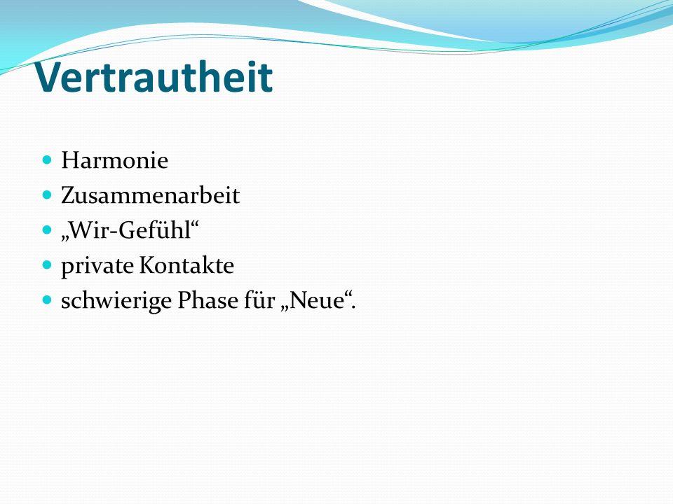 """Vertrautheit Harmonie Zusammenarbeit """"Wir-Gefühl private Kontakte"""