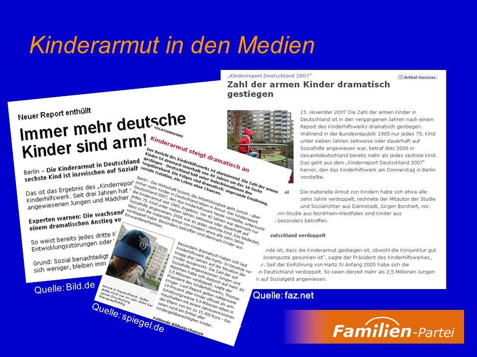 Kinderarmut in den Medien