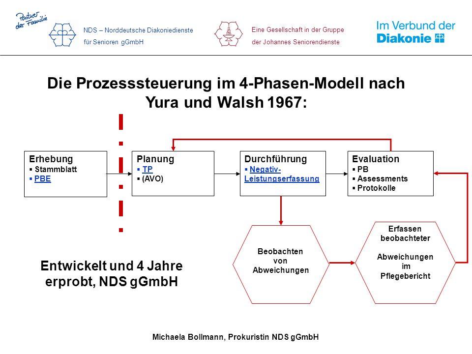Die Prozesssteuerung im 4-Phasen-Modell nach Yura und Walsh 1967: