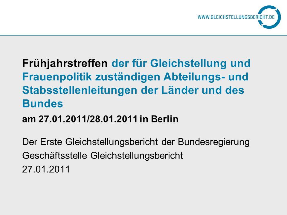 Frühjahrstreffen der für Gleichstellung und Frauenpolitik zuständigen Abteilungs- und Stabsstellenleitungen der Länder und des Bundes am 27.01.2011/28.01.2011 in Berlin