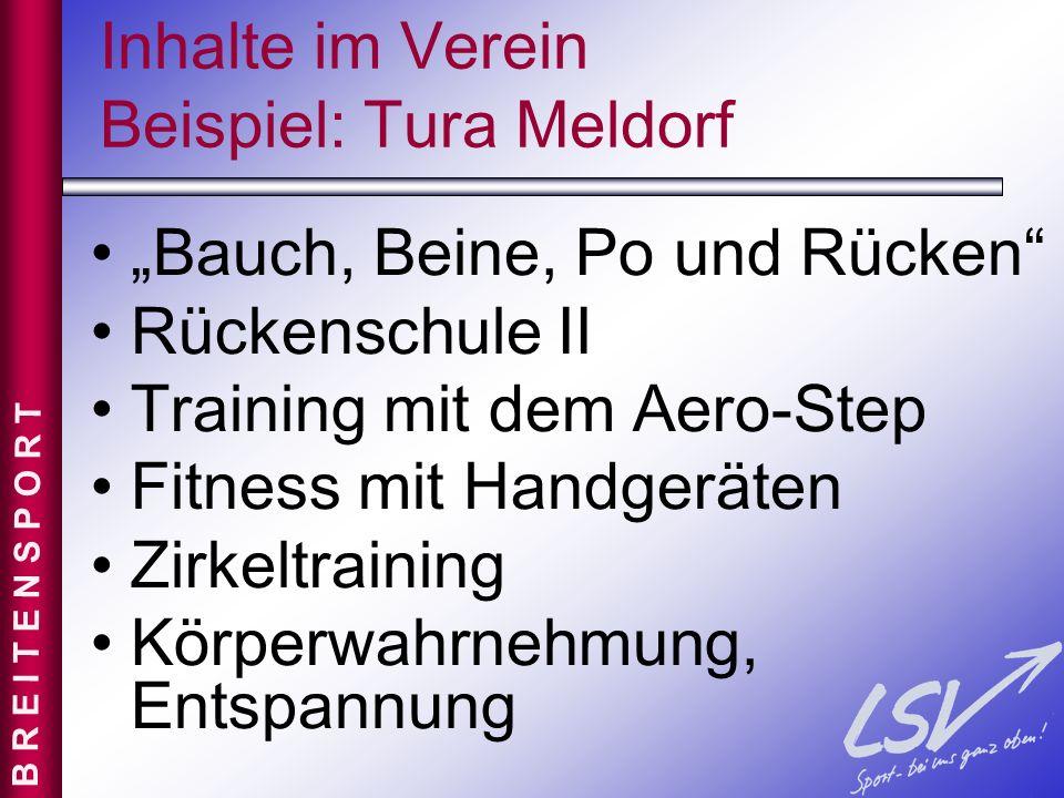 Inhalte im Verein Beispiel: Tura Meldorf