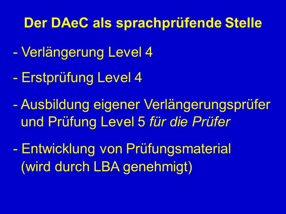 Der DAeC als sprachprüfende Stelle