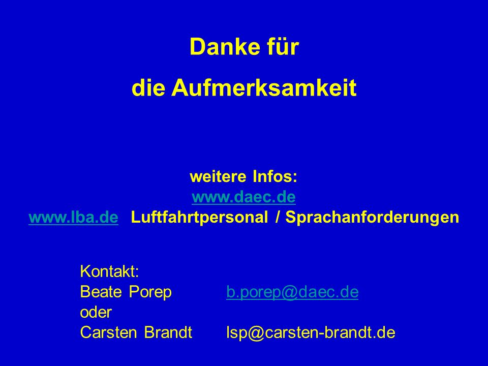 www.lba.de Luftfahrtpersonal / Sprachanforderungen