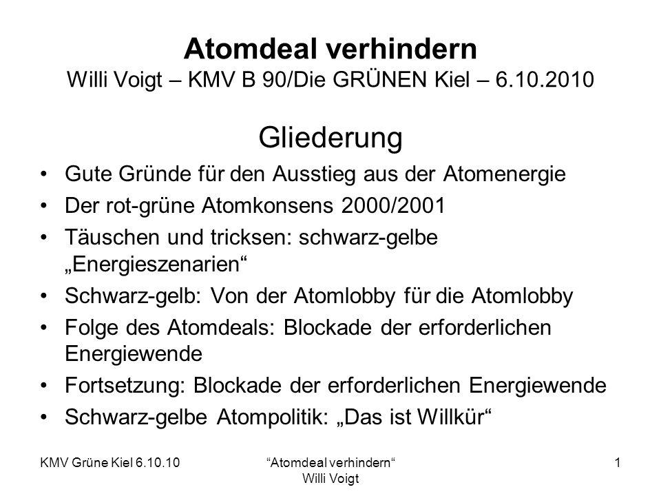 Atomdeal verhindern Willi Voigt – KMV B 90/Die GRÜNEN Kiel – 6.10.2010