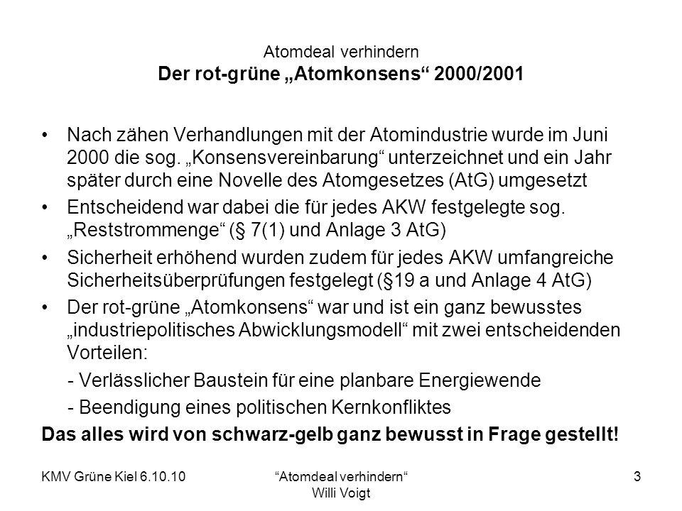 """Atomdeal verhindern Der rot-grüne """"Atomkonsens 2000/2001"""