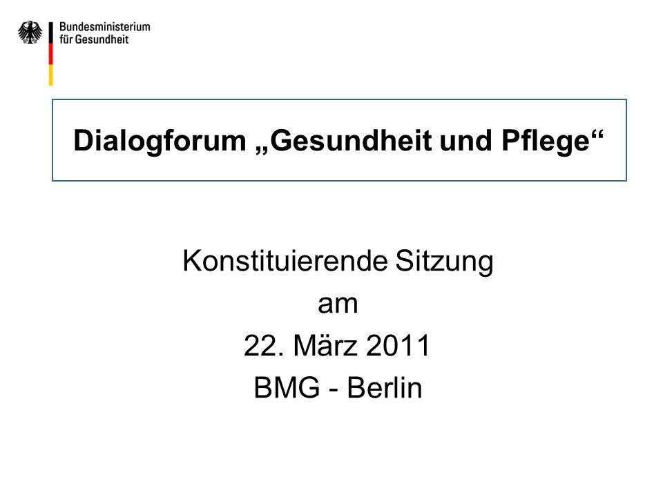 """Dialogforum """"Gesundheit und Pflege"""
