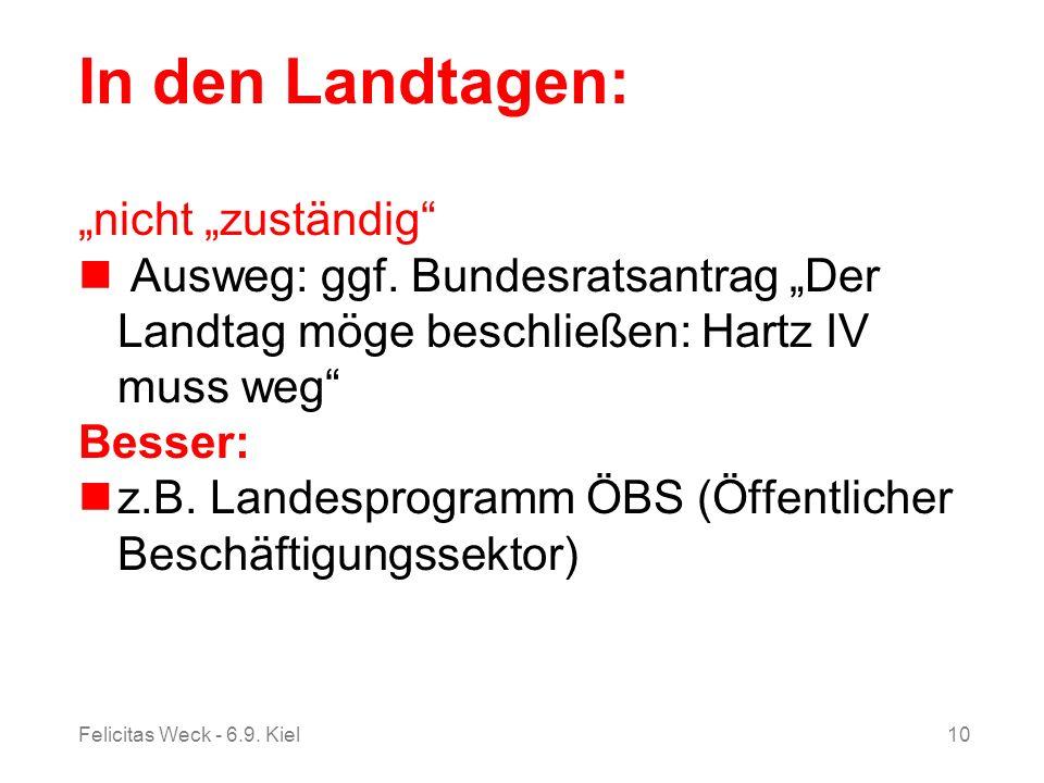 """In den Landtagen: """"nicht """"zuständig"""