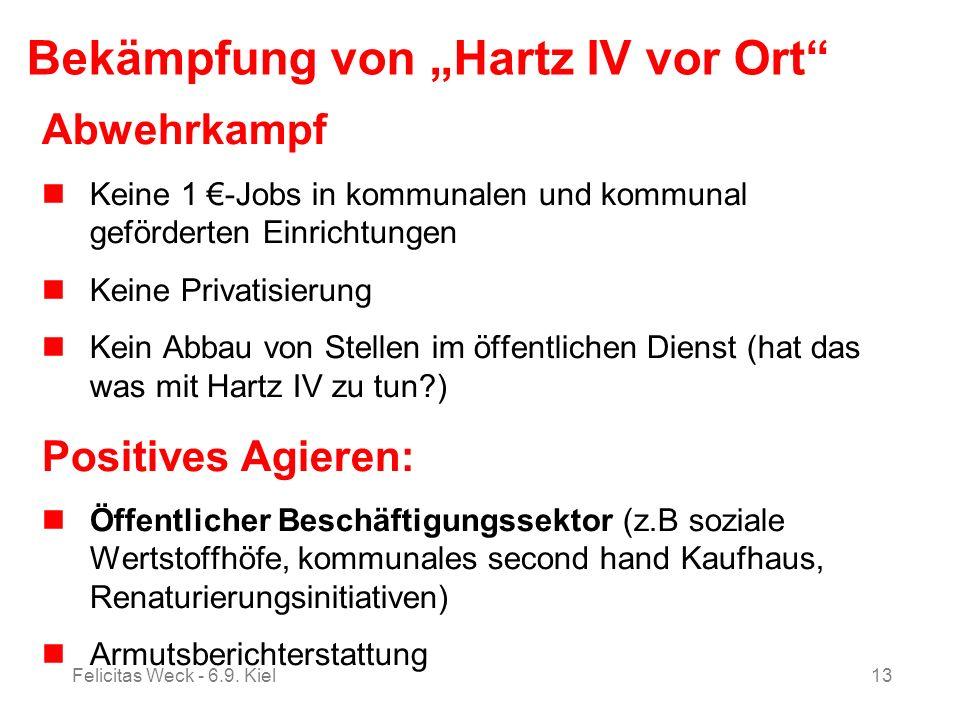 """Bekämpfung von """"Hartz IV vor Ort"""