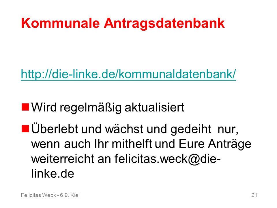 Kommunale Antragsdatenbank