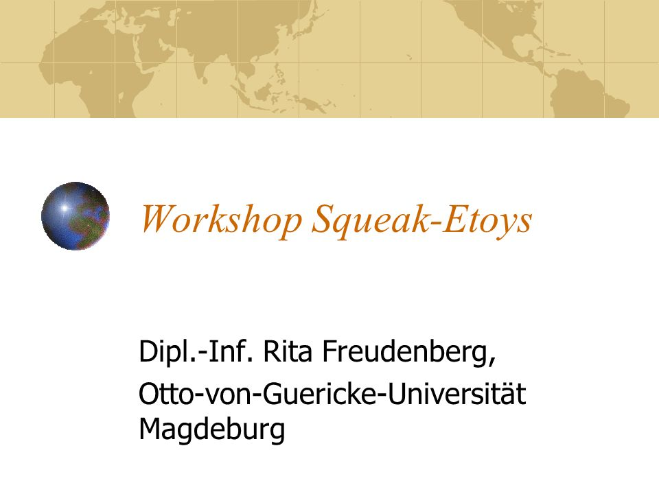 Workshop Squeak-Etoys