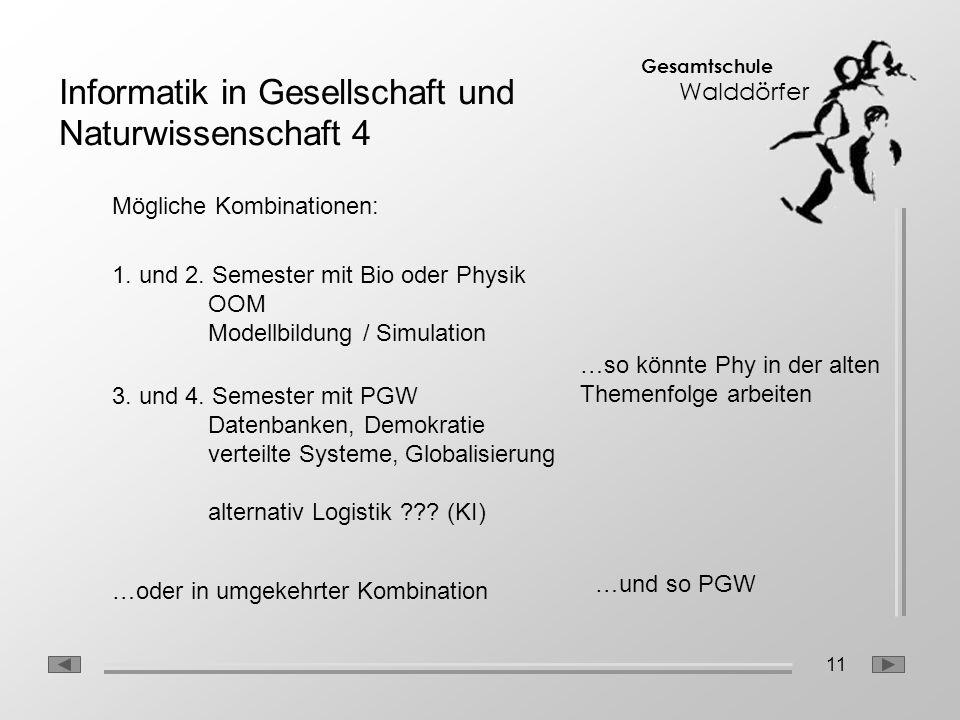 Informatik in Gesellschaft und Naturwissenschaft 4