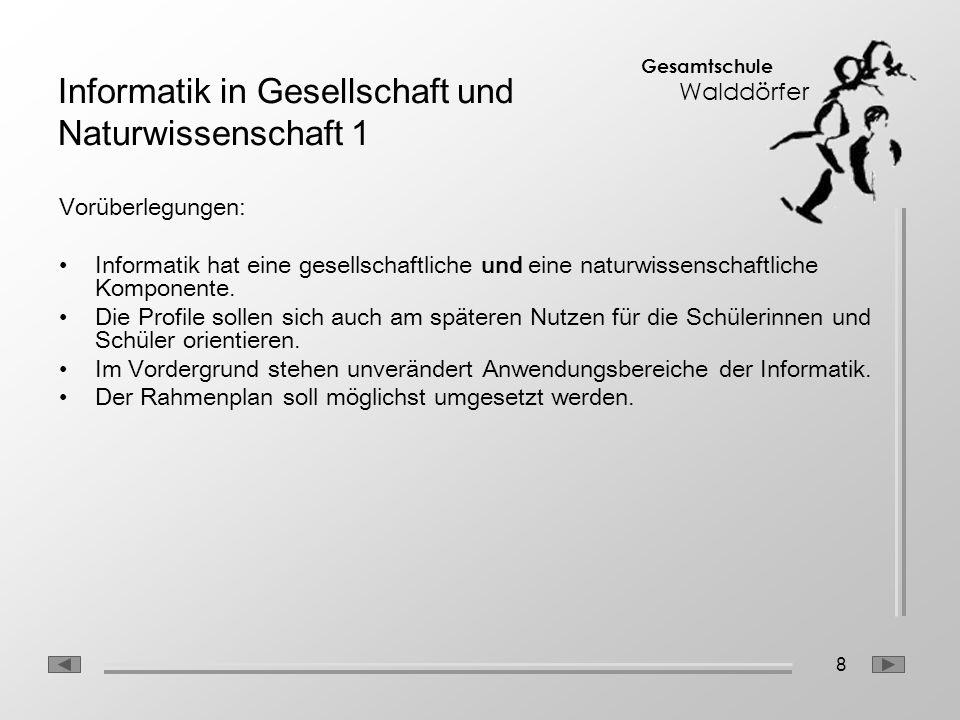 Informatik in Gesellschaft und Naturwissenschaft 1