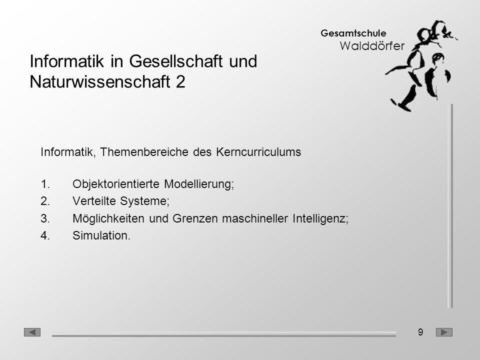 Informatik in Gesellschaft und Naturwissenschaft 2