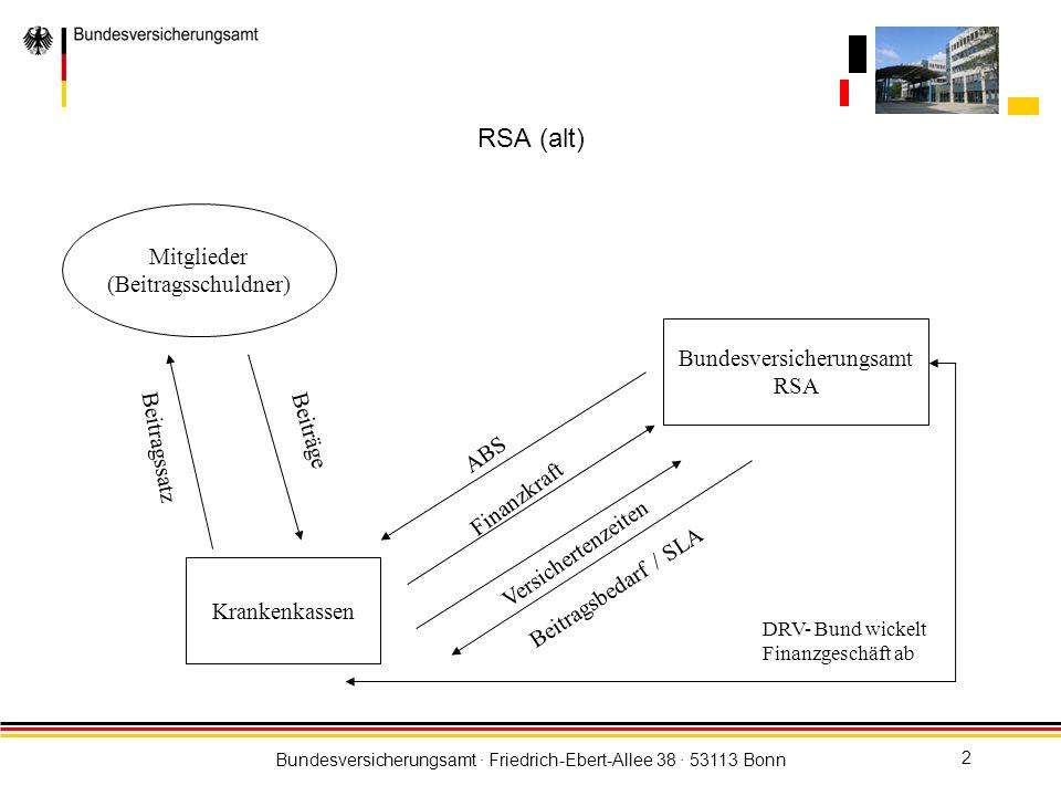 RSA (alt) Mitglieder (Beitragsschuldner) Bundesversicherungsamt RSA