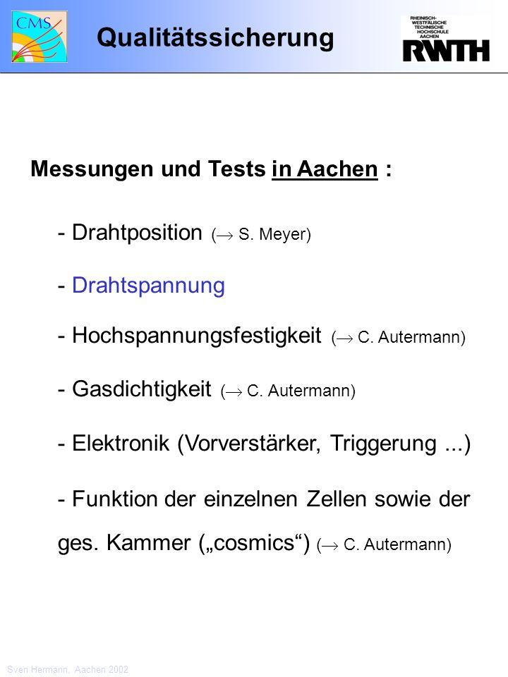 Qualitätssicherung Messungen und Tests in Aachen :