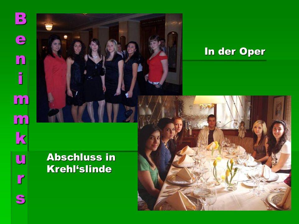 Benimmkurs In der Oper Abschluss in Krehl'slinde