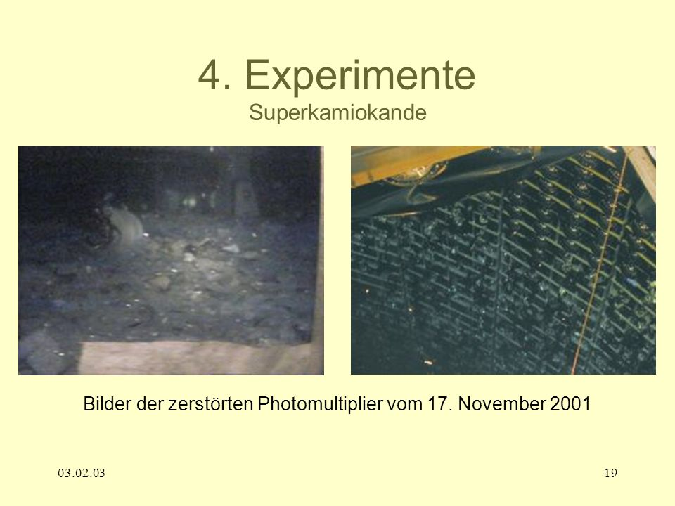 4. Experimente Superkamiokande