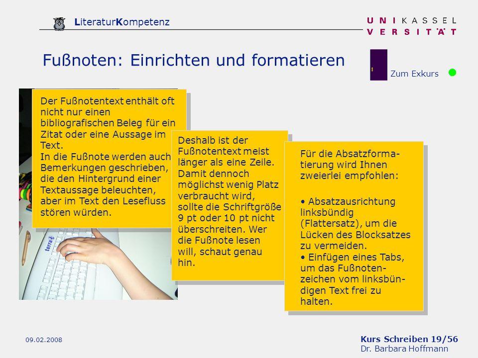 Fußnoten: Einrichten und formatieren