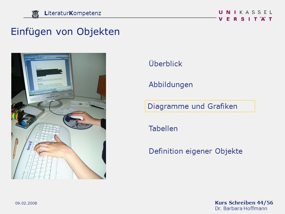 Einfügen von Objekten Überblick Abbildungen Diagramme und Grafiken