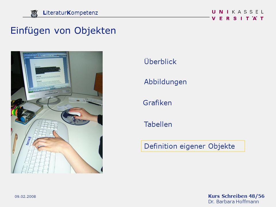 Einfügen von Objekten Überblick Abbildungen Grafiken Tabellen