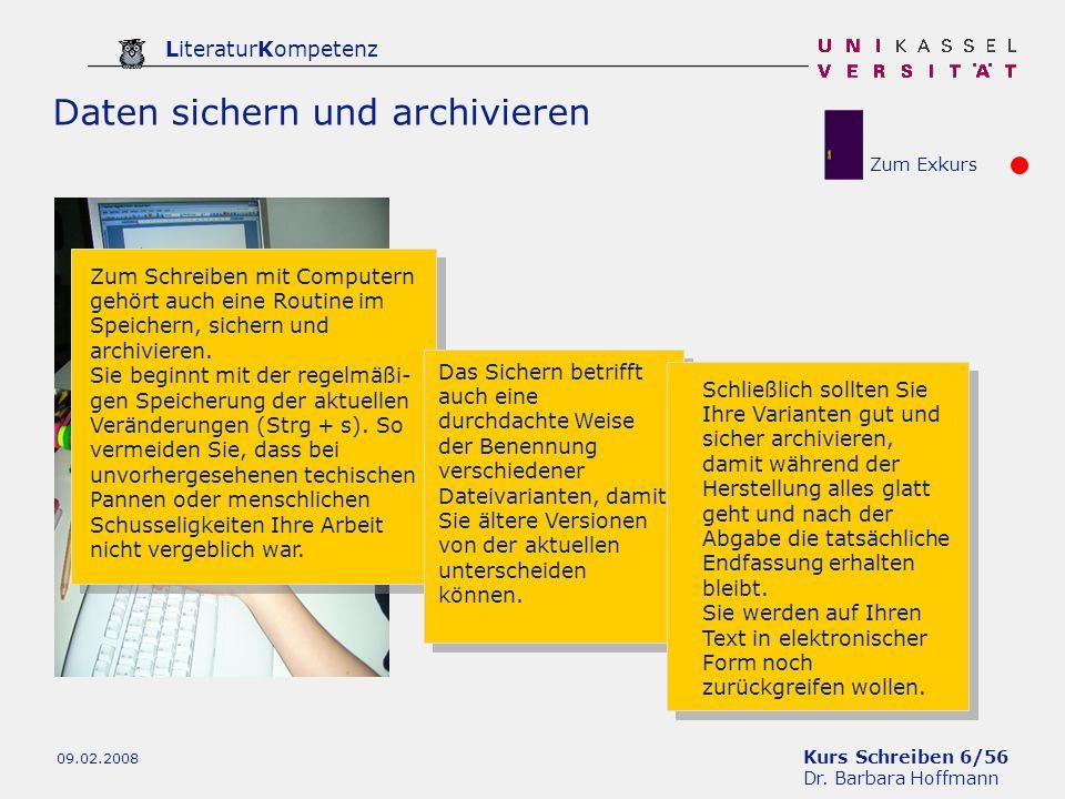 Daten sichern und archivieren