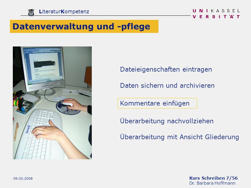 Datenverwaltung und -pflege